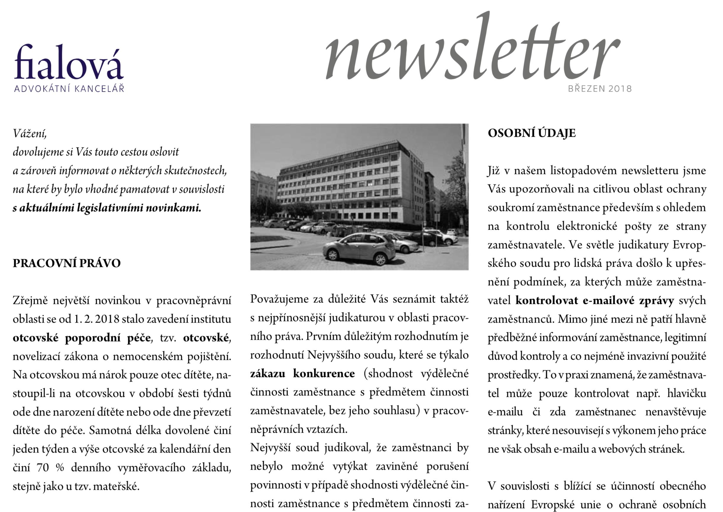 Newsletter leden 2018